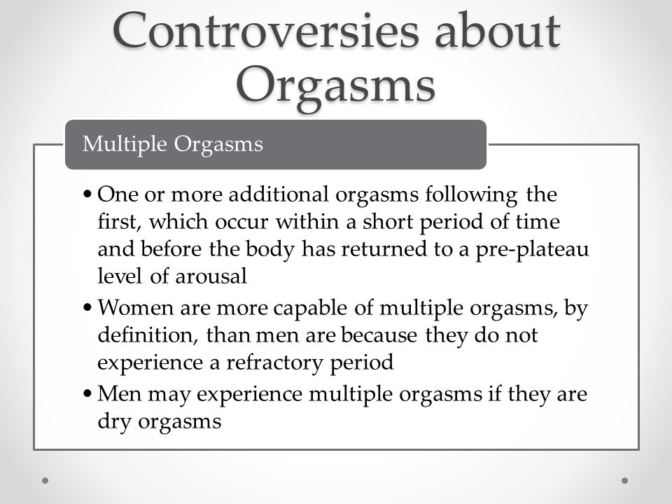 Do most women experience multiple orgasms