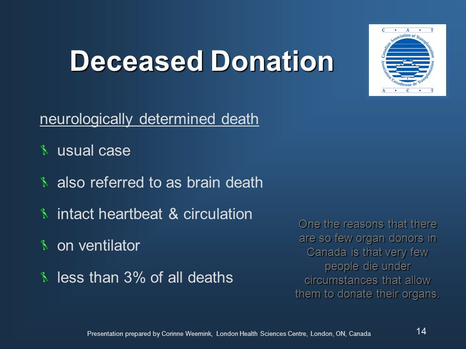 Deceased Donation neurologically determined death usual case