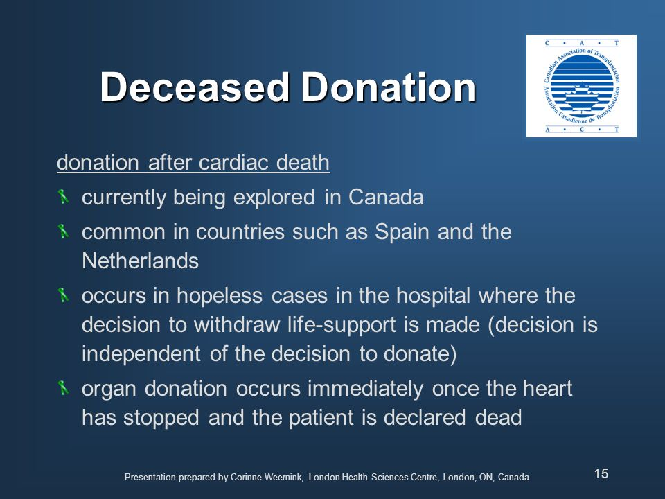 Deceased Donation donation after cardiac death