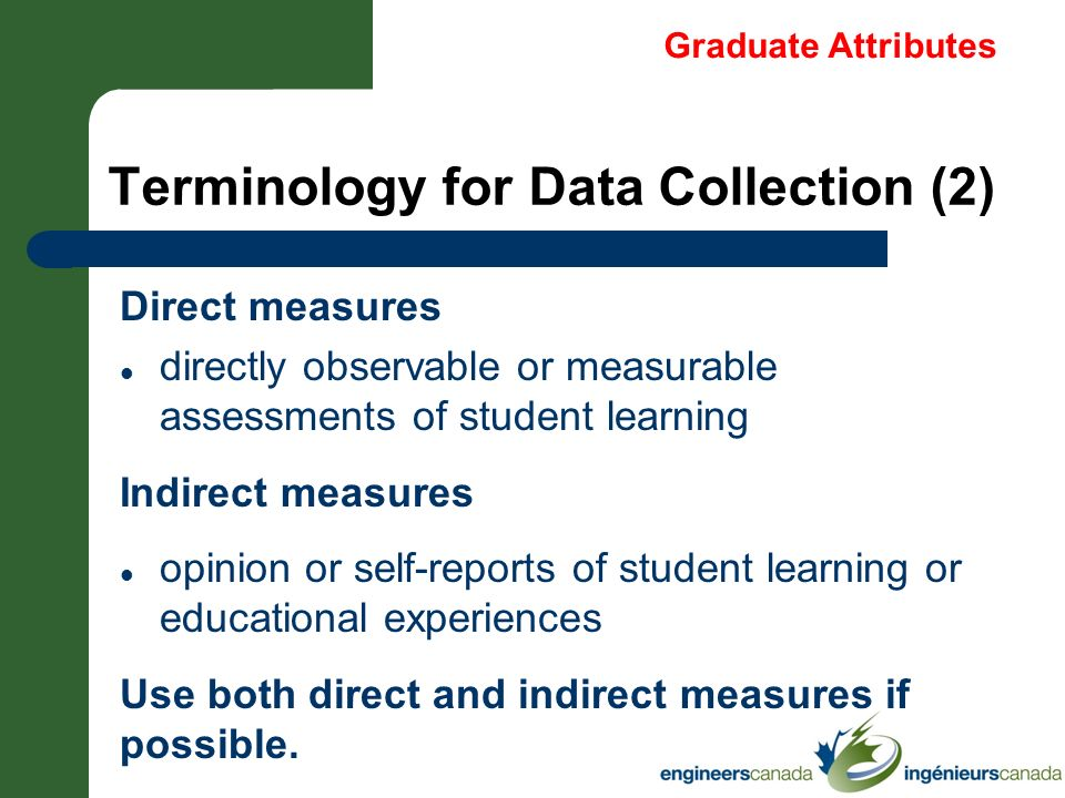 Terminology for Data Collection (2)