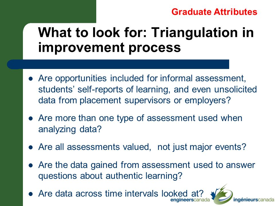 What to look for: Triangulation in improvement process