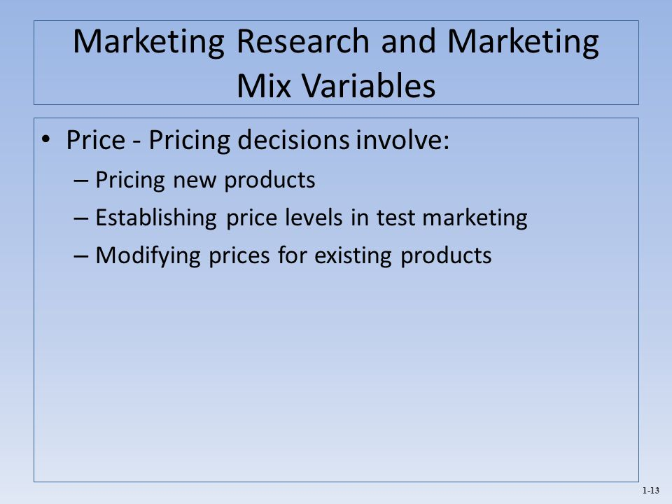 a research on marketing mix of Study investigated christian school awareness and usage of marketing mix  the  identification process of which marketing mix components and strategies are.