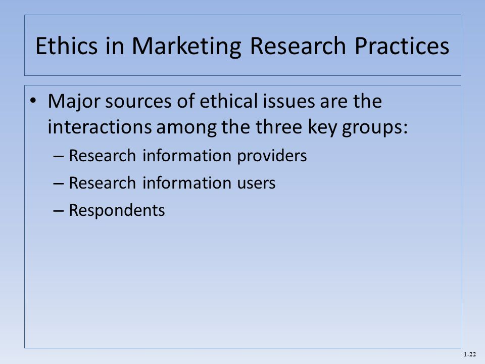 unethical marketing research practices Unethical behavior is really the result of other behaviors that blind us from seeing what is really happening  research has shown that there are a lot of leaders that operate based on their.