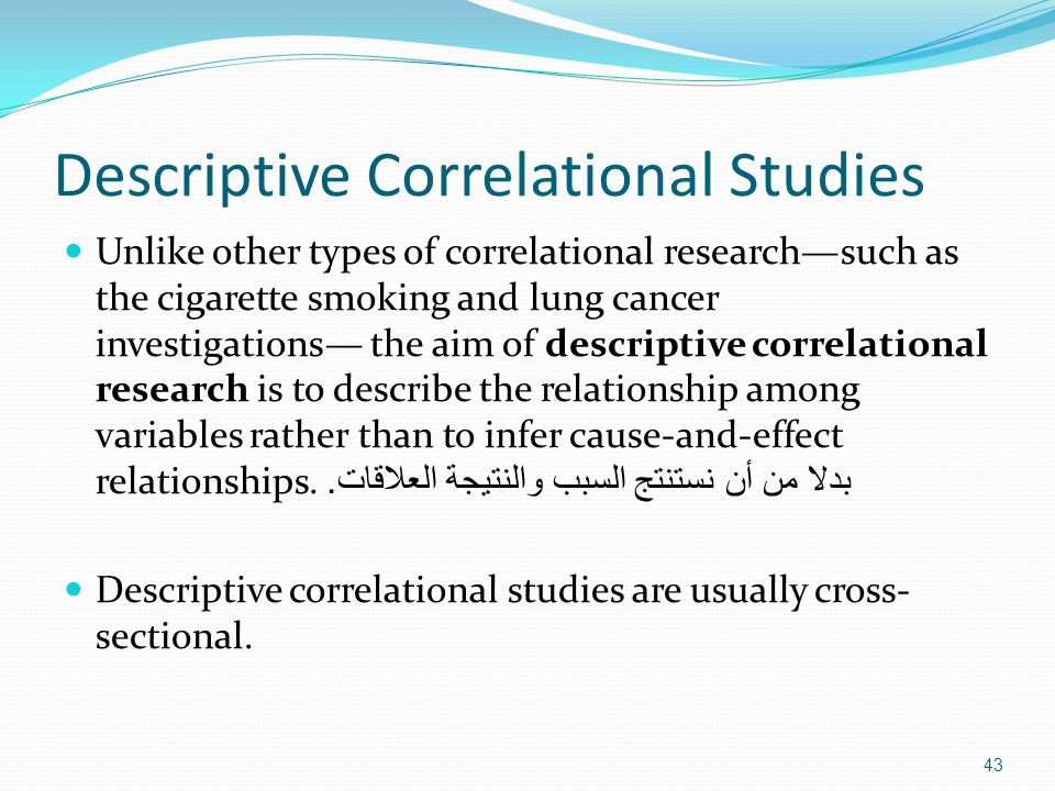 types of correlational studies essay Types of correlational studies essay sample 1 naturalistic observation naturalistic observation involves observing and recording the variables of interest in the natural environment.