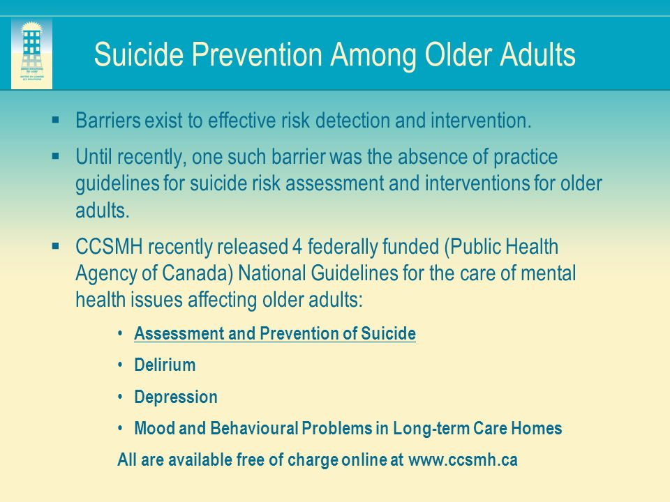 Suicide Prevention Among Older Adults