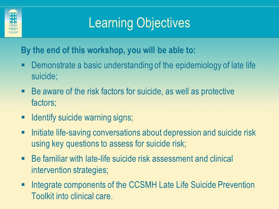 Learning Objectives By the end of this workshop, you will be able to: