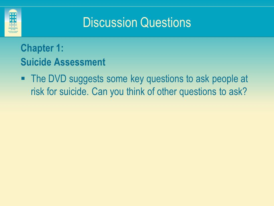 how to ask questions about suicide