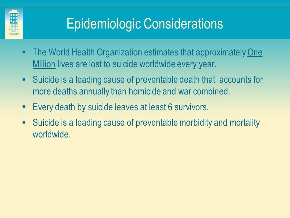Epidemiologic Considerations