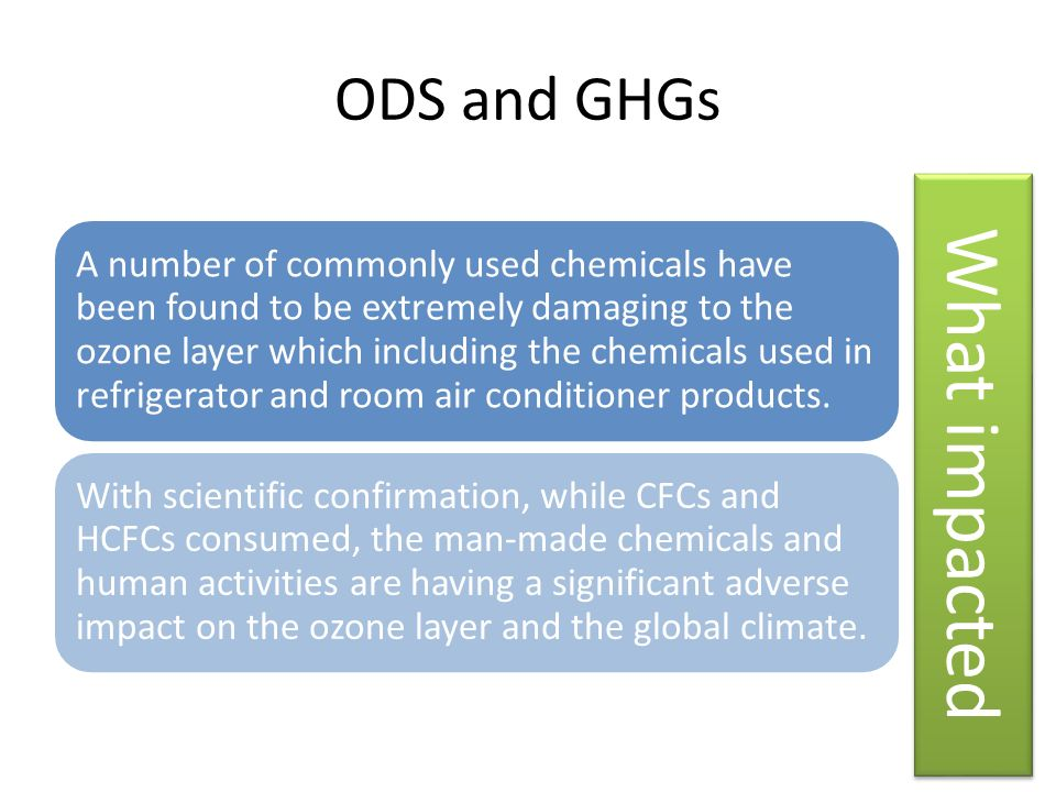 What impacted ODS and GHGs