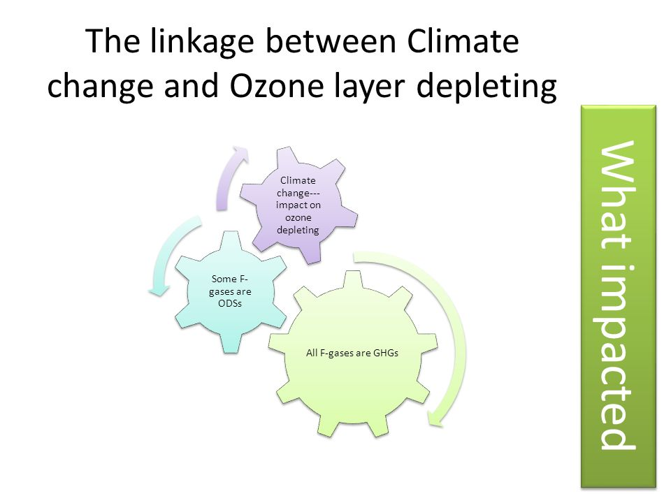 The linkage between Climate change and Ozone layer depleting