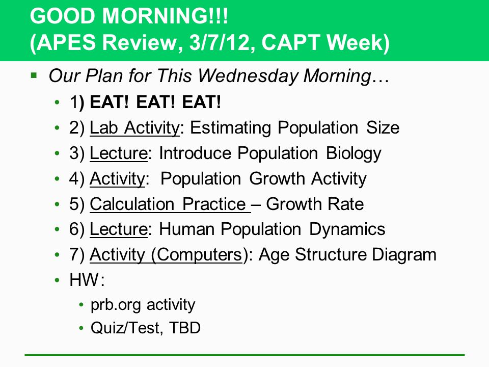 Good Morning Apes Review 3 7 12 Capt Week Ppt Video Online