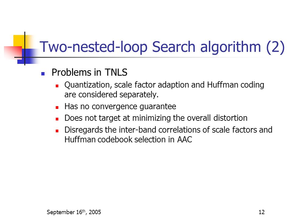 Two-nested-loop Search algorithm (2)
