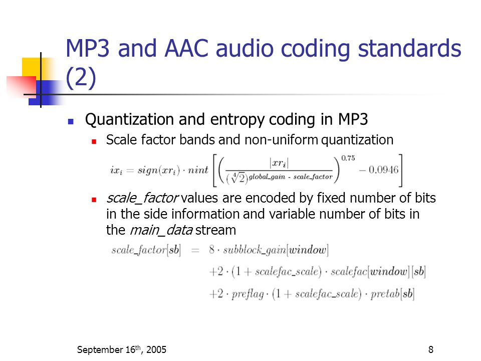 MP3 and AAC audio coding standards (2)