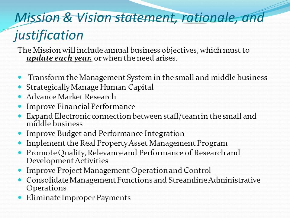 Problem statement every management wants to have a full - Project management office mission statement ...
