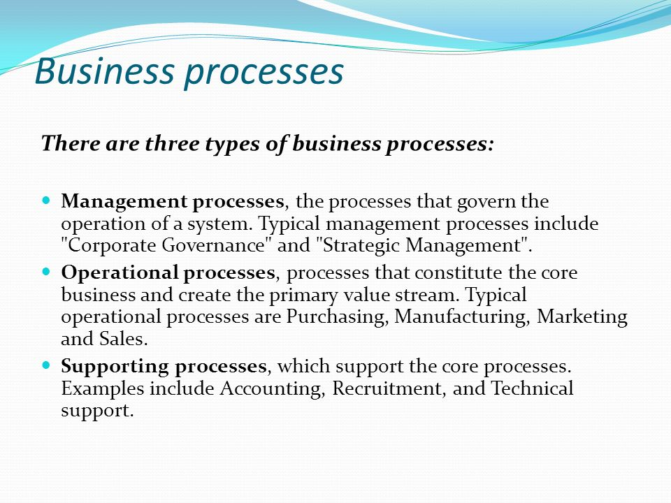 types of business processes are well The process audit michael hammer  i identified two distinct groups of characteristics that are needed for business processes to perform well and to.