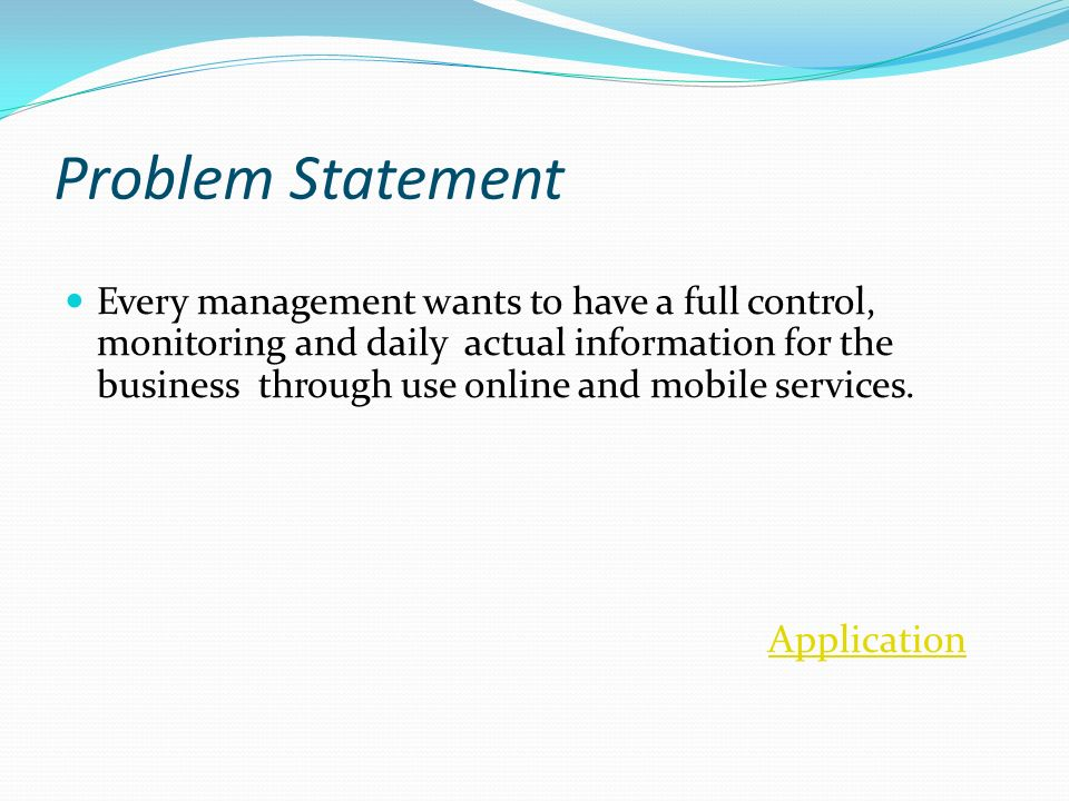 statement of the problem monitoring system Opmgov main policy performance management overview monitoring well means consistently and recognition system allowed using a written statement of work.