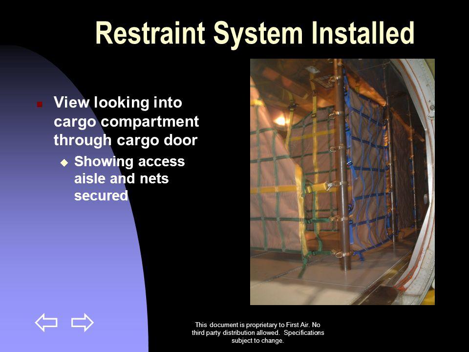 Restraint System Installed