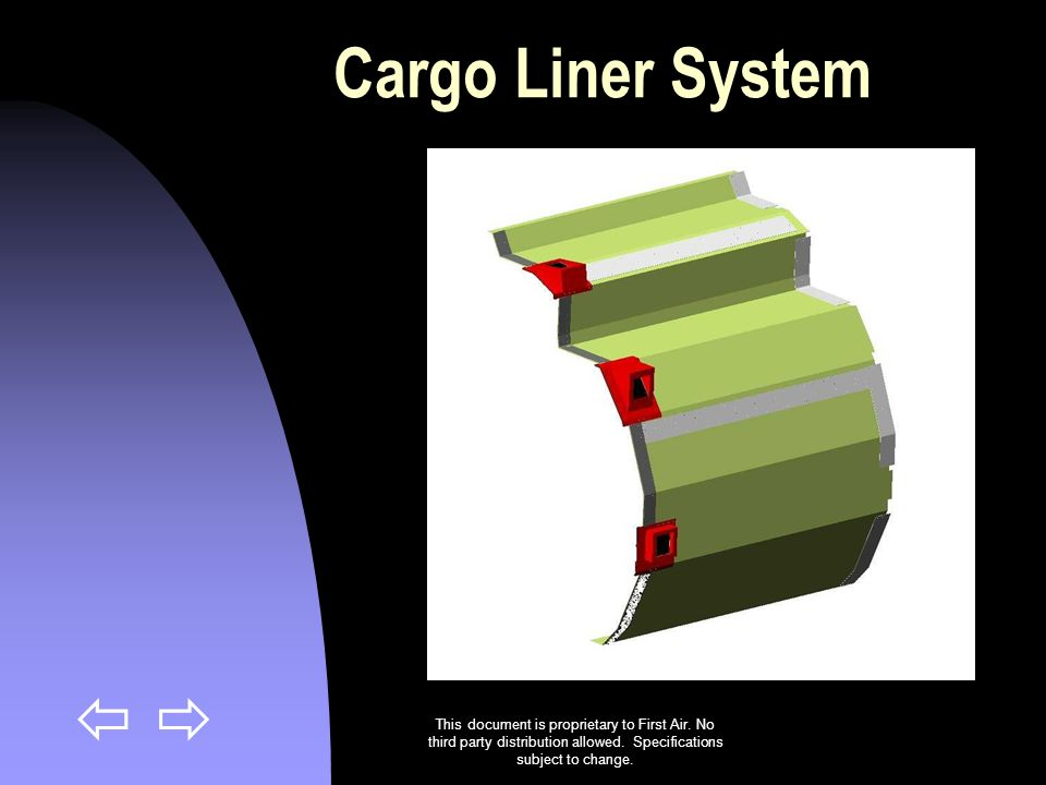 Cargo Liner System This document is proprietary to First Air.