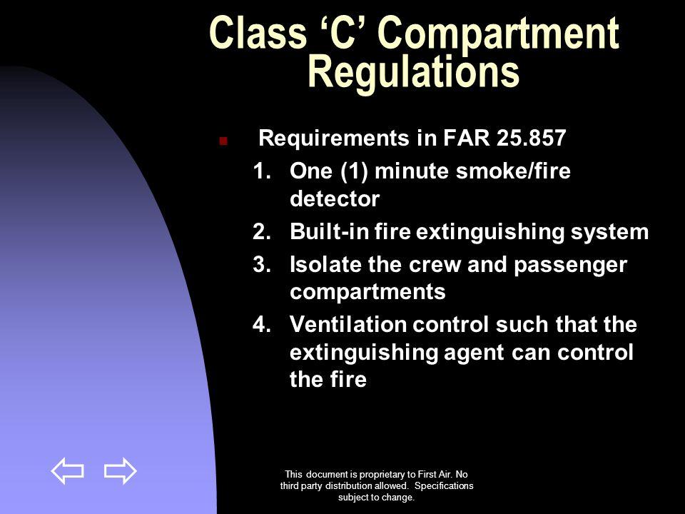 Class 'C' Compartment Regulations