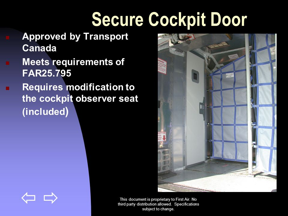 Secure Cockpit Door Approved by Transport Canada