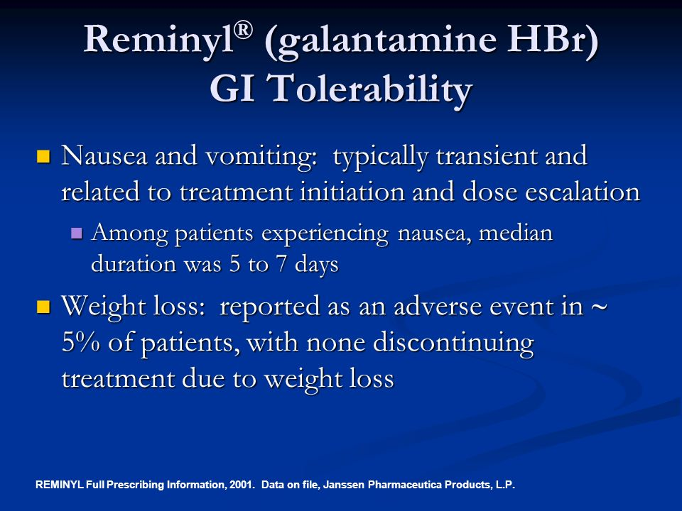 Reminyl Galantamine Hydrobromide