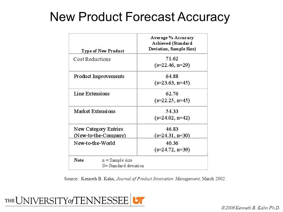 new product forecasting