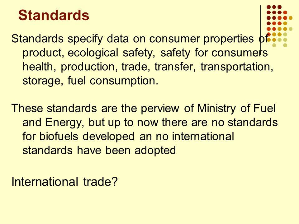 Standards International trade