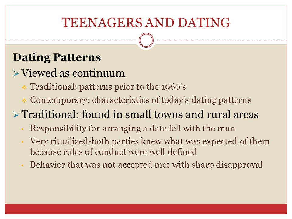 What is the dating process continuum