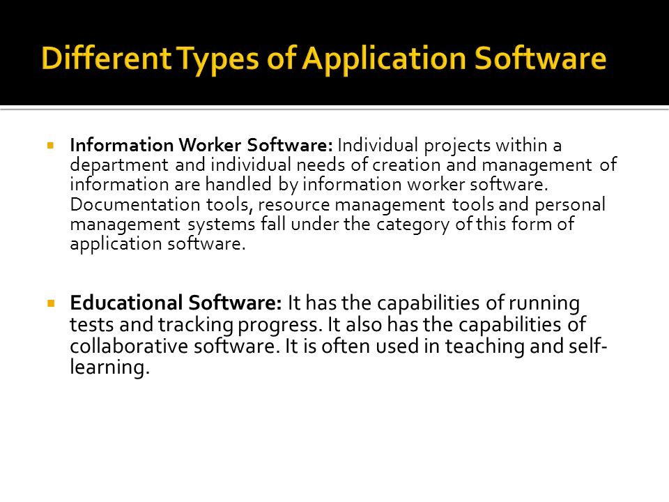 different of system software and application software