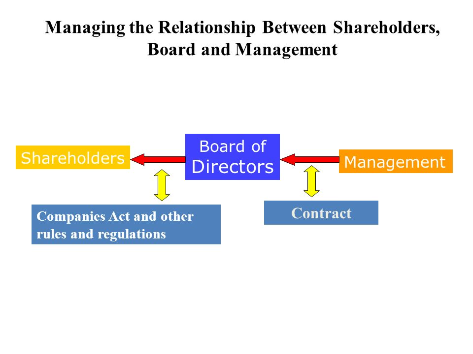 relationship between shareholders directors and auditors company