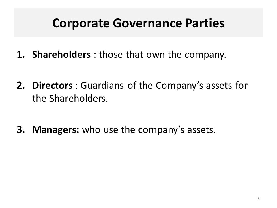 directors and shareholders relationship