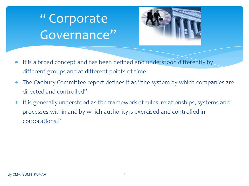 corporate governance is not for small Many smes consider that corporate governance is only corporate governance for small-to good corporate governance is not just for large.