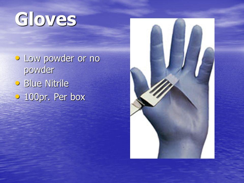 Gloves Low powder or no powder Blue Nitrile 100pr. Per box