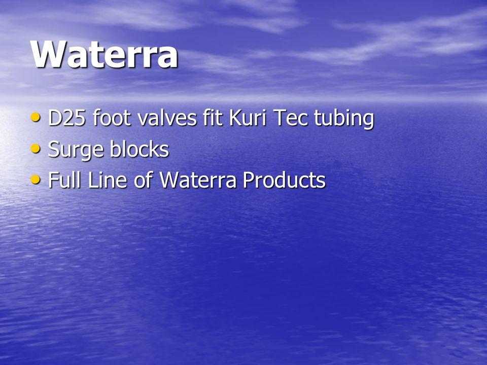 Waterra D25 foot valves fit Kuri Tec tubing Surge blocks