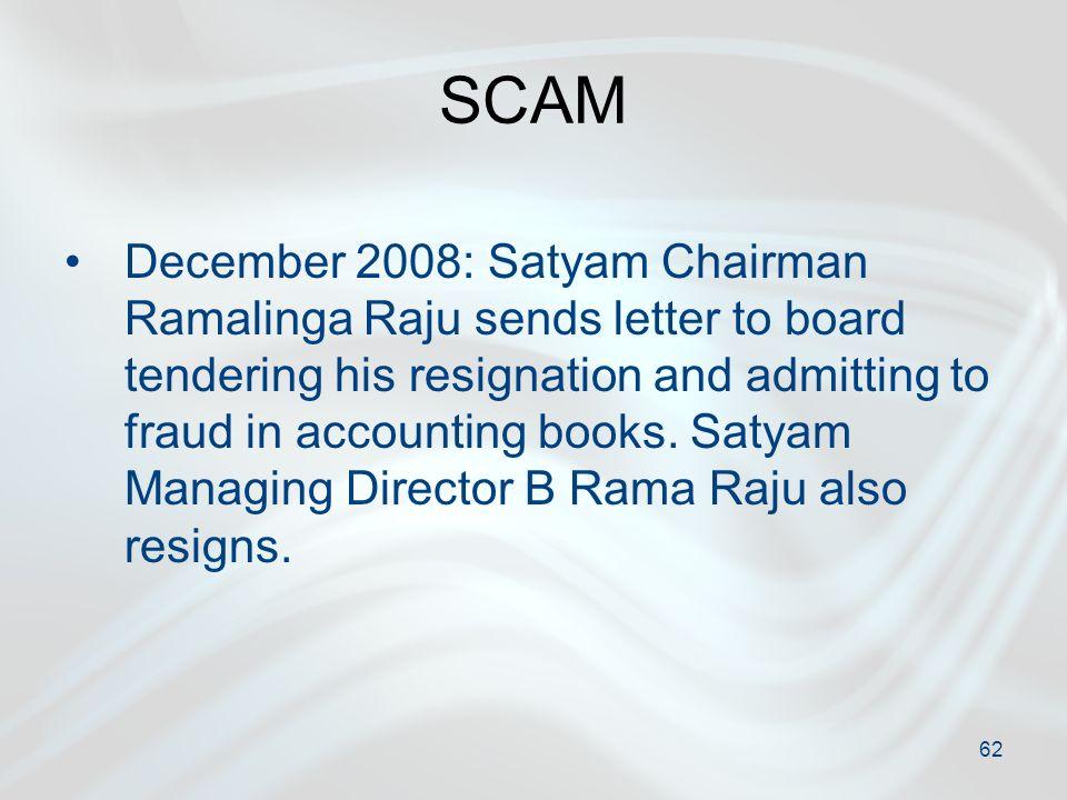 Corporate Governance ppt download – Ramalinga Raju Resignation Letter