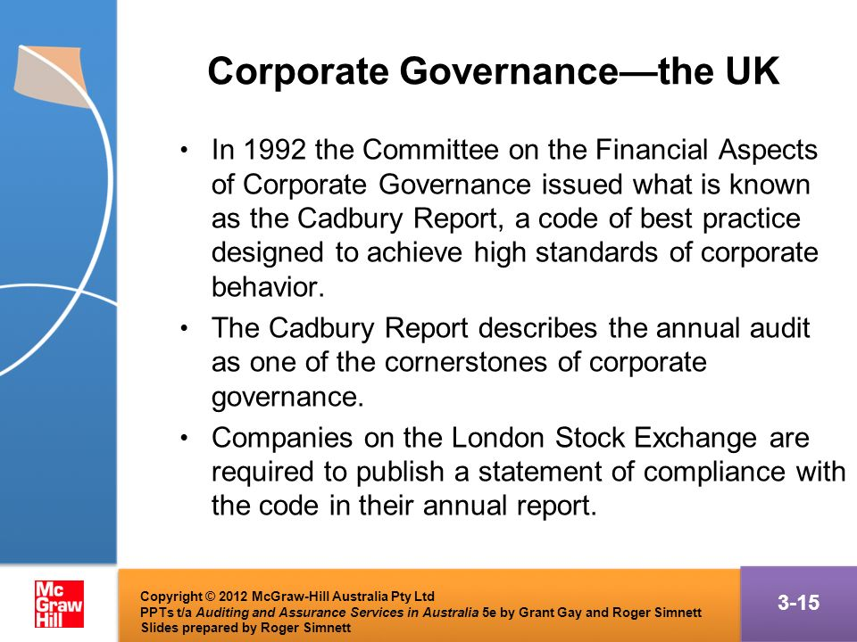 cadbury report 1992 of the uk Sources: sheridan and kendall (1992) boyd (1996) the cadbury report on the financial aspects of corporate governance the uk-system of corporate governance is to a.