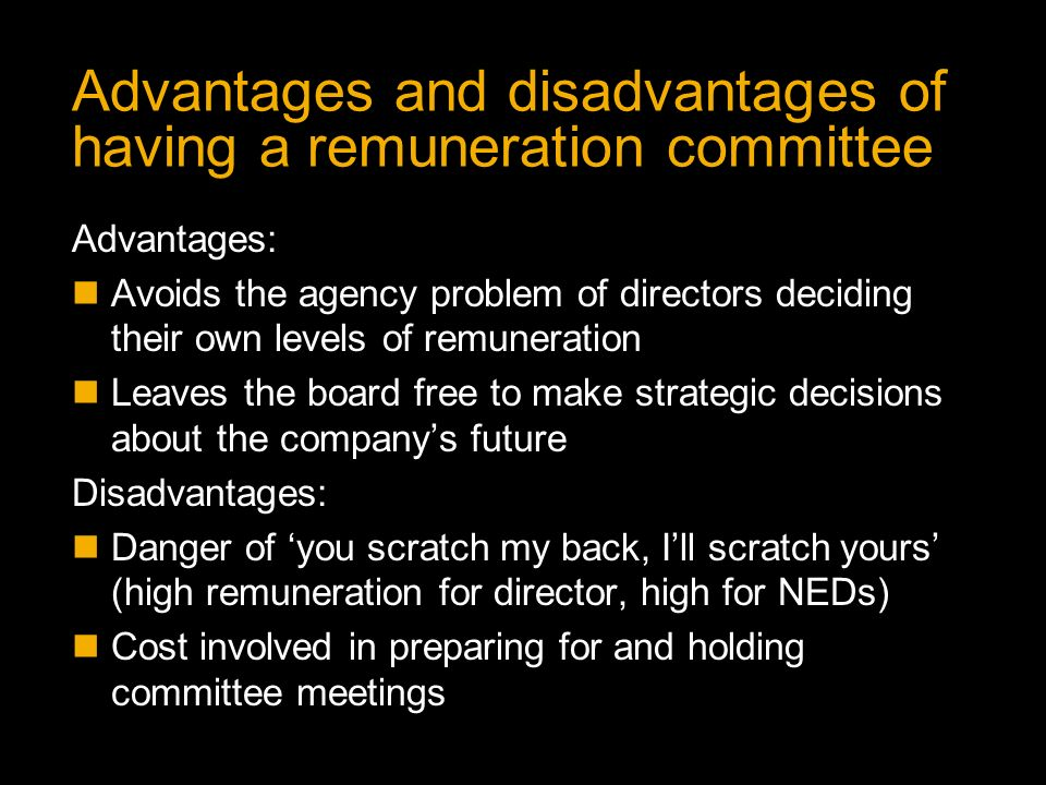 advantages and disadvantages of committees A committee is a group of persons within an organization to whom, as a group, some matter is committed the committee may be formed for a limited duration or a standing committee also the members .