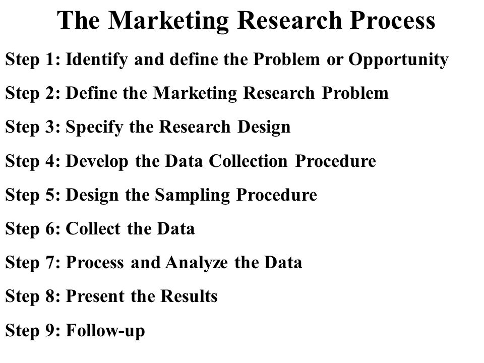 Reaction paper on marketing research process