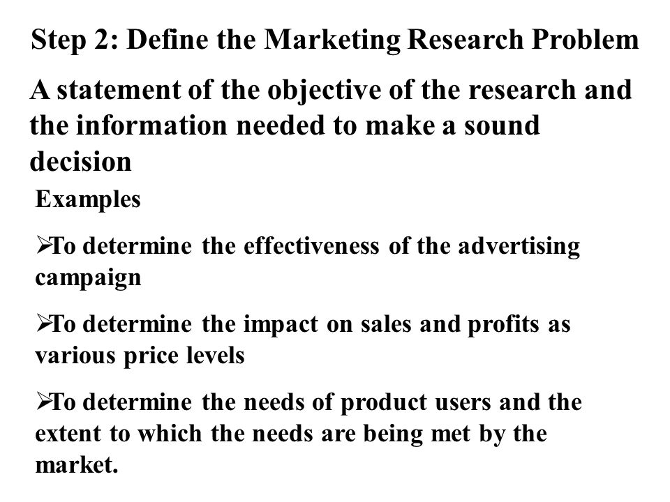 advertising problem statement Read this article to discover a simple 7-step technique for defining a marketing problem how to clearly define a direct marketing problem  problem statement .