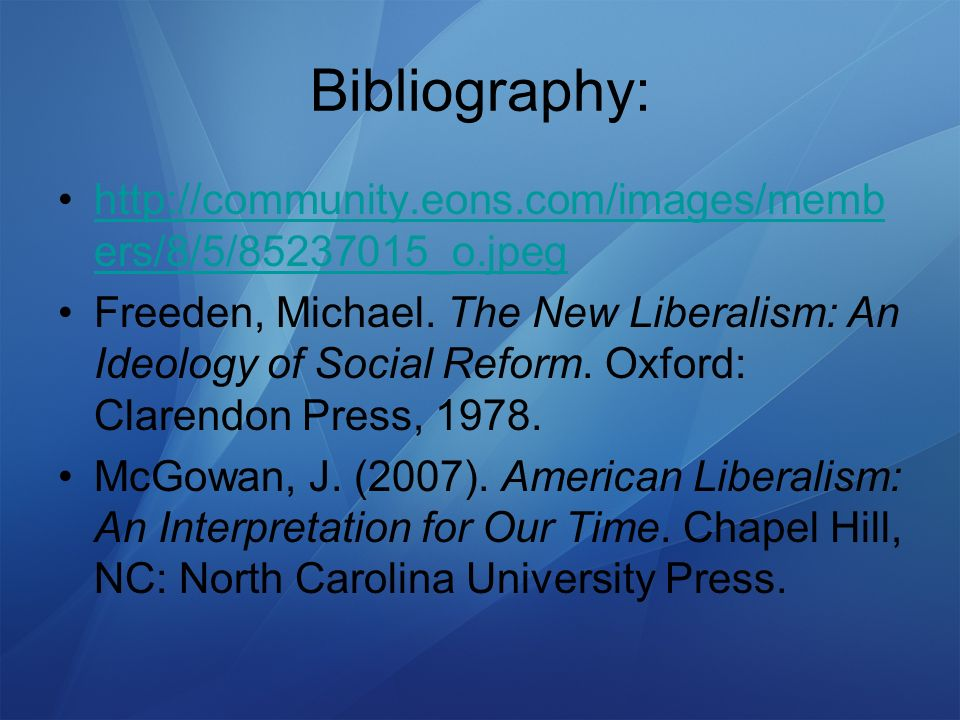 How liberalism ideology relates to social work