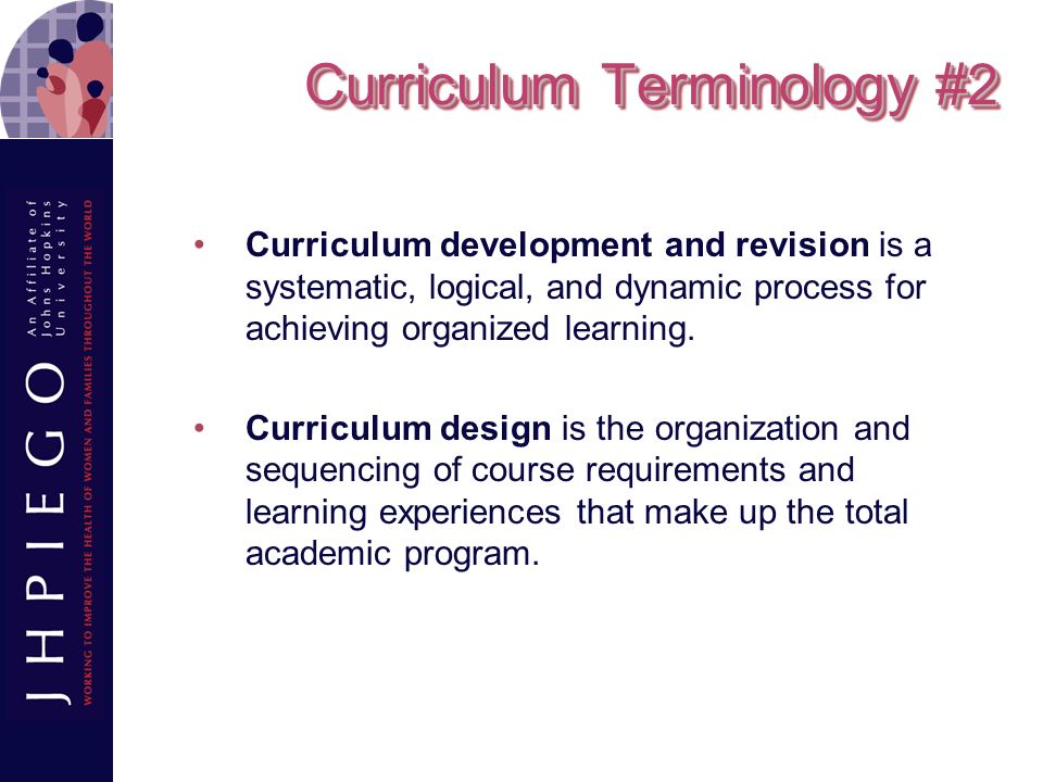 Curriculum Terminology #2