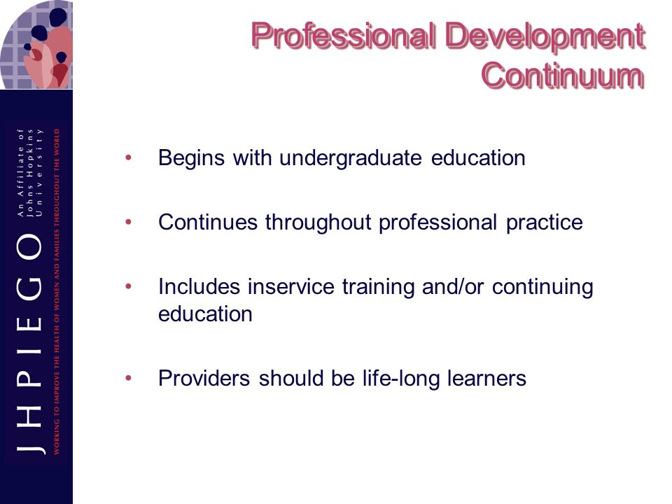 Professional Development Continuum