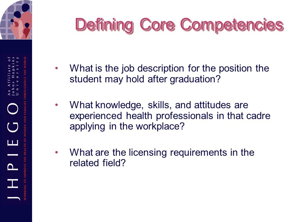Defining Core Competencies