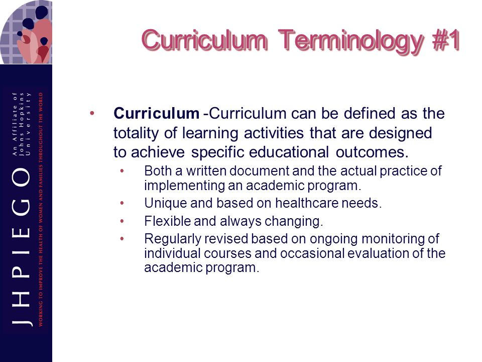 Curriculum Terminology #1