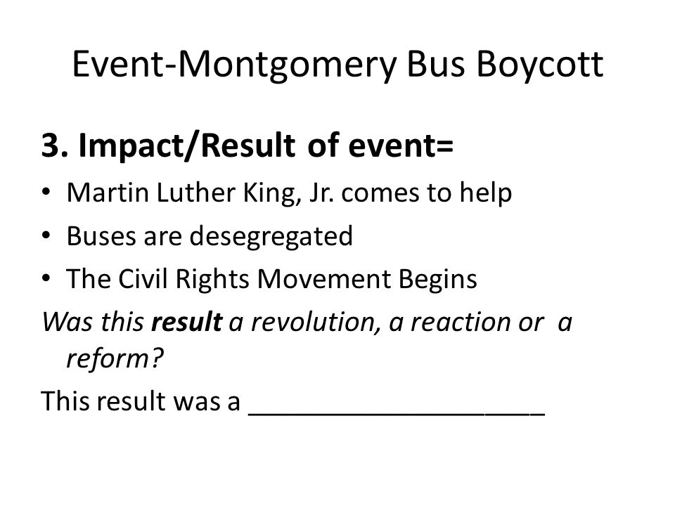 the impact of the montgomery bus boycott on the civil rights movement in the us On biographycom, read about ed nixon, the often unheralded civil rights  movement leader who worked with rosa parks to initiate the montgomery bus  boycott  was the first african-american citizen to campaign for office in  montgomery, alabama,  community activist who largely influenced the civil  rights movement.