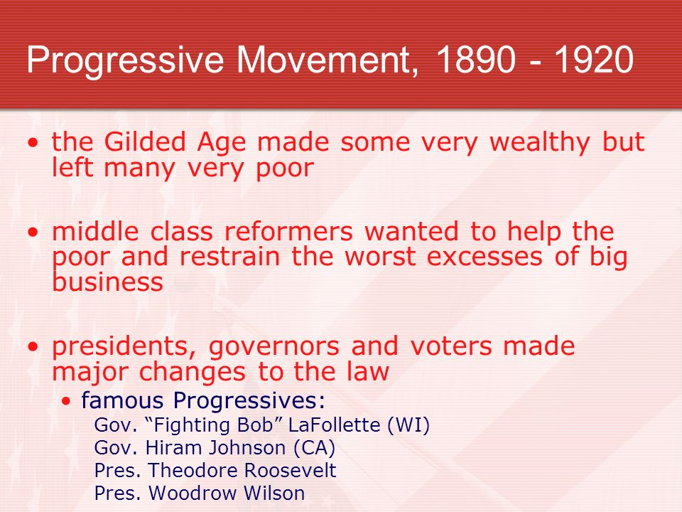 progressivism movement Quizlet provides history progressive movement activities, flashcards and games start learning today for free.