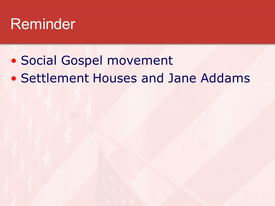settlement house movement jane addams New york city's neighborhood guild (1885) and jane addams' hull house (chicago, 1888) marked the importation of settlement houses to the us over 100 existed in america by 1900 the settlement movement grew in response to the overcrowding, impoverishment, corruption, and disease caused by rapid industrialization and urbanization.