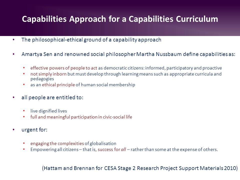 amartya sen capability approach essay The capability approach: insights for a new poverty focus rod hick concepts and how amartya sen's capability approach can provide a conceptual framework.