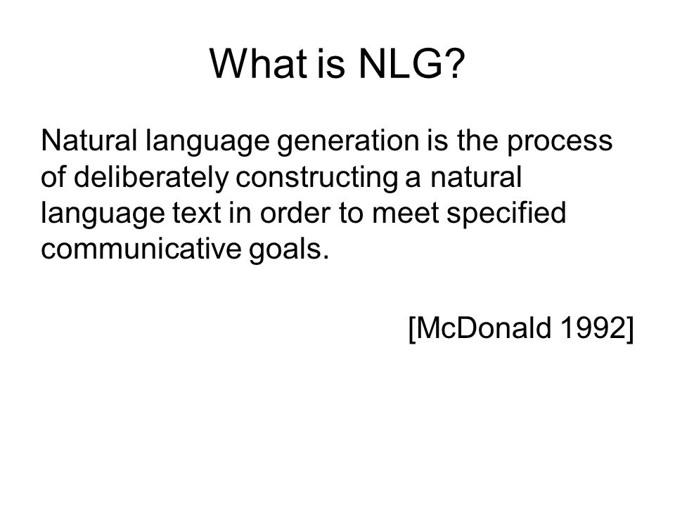 What is NLG
