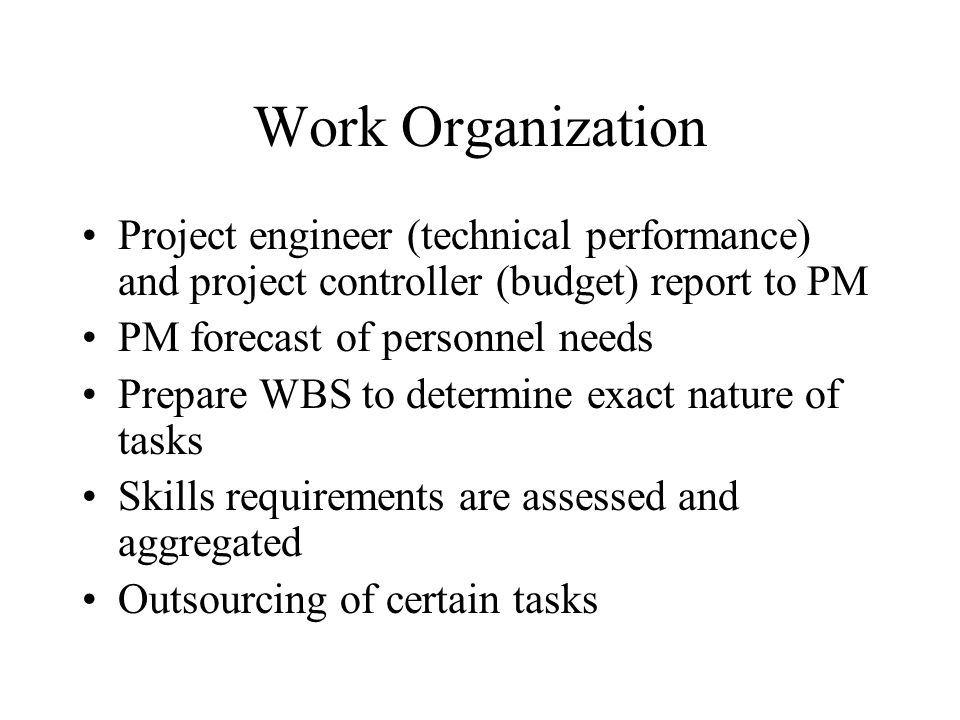 Project Organization ppt download – Project Controller